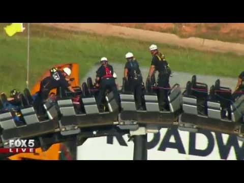 Rescue on top of roller coaster in OKC