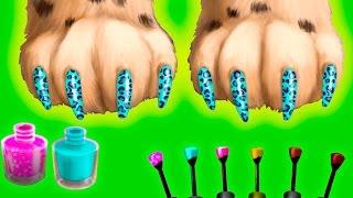 Играем в веселую детскую игру про прически и маникюр для животных