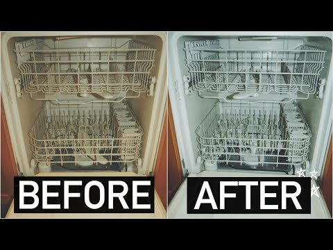 HOW TO CLEAN YOUR DISHWASHER WITH BAKING SODA + VINEGAR!