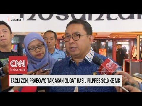 Fadli Zon: Prabowo Tak Akan Gugat Hasil Pilpres 2019 Ke MK