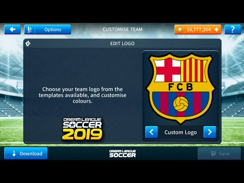 How to change logo url dream league soccer 2016 barcalona.