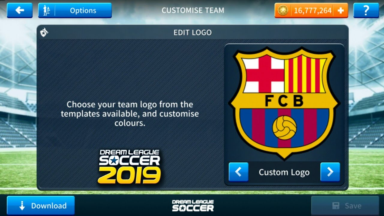 ec5cd7030 How To Import Fc Barcelona Logo And Kits In Dream League Soccer 2019 ...