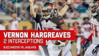 Rookie Vernon Hargreaves Picks Off Jaguars Twice | Buccaneers vs. Jaguars (Preseason) | NFL