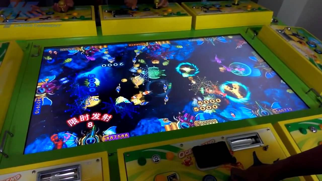 Ocean king upgrade software for fish hunter plus arcade for Arcade fishing games