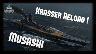 Let's Play World of Warships   Musashi   Krasser Reload! [ Gameplay - German - Deutsch ]