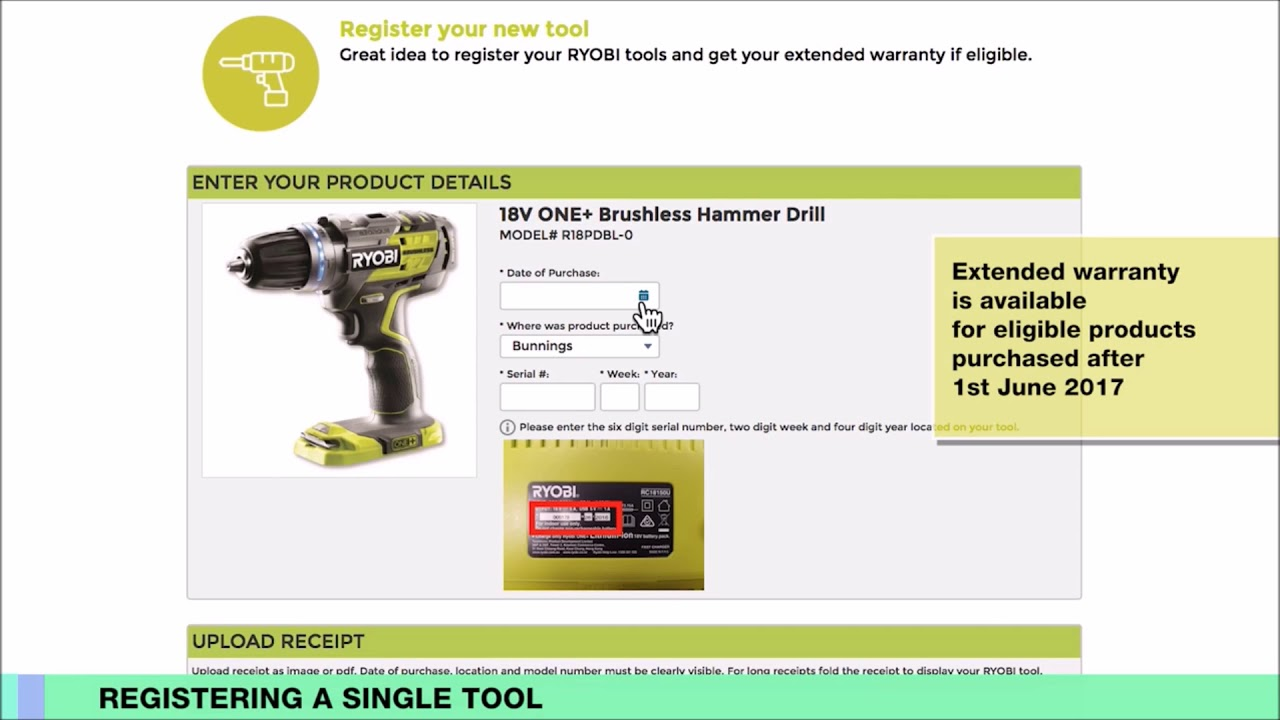 register ryobitools. introducing my ryobi and our market-leading 6 year warranty on cordless tools register ryobitools g