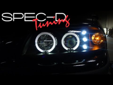 SPECDTUNING INSTALLATION VIDEO: 2000 - 2006 CHEVY IMPALA LED PROJECTOR on