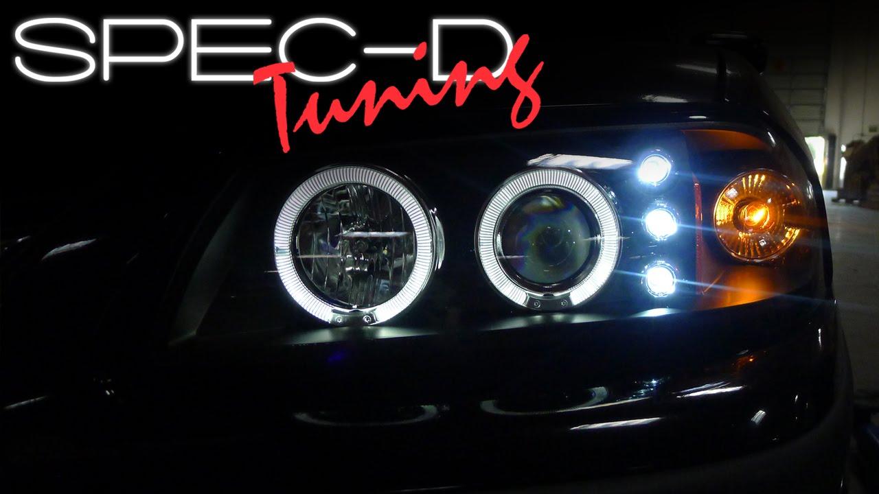 medium resolution of specdtuning installation video 2000 2006 chevy impala led projector headlights youtube