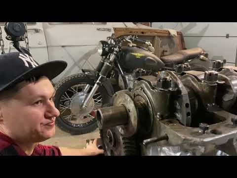 Сборка двигателя Волга ГАЗ 21 часть 2