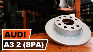 Montáž zadné a predné Brzdový kotouč AUDI A3 Sportback (8PA): video zadarmo