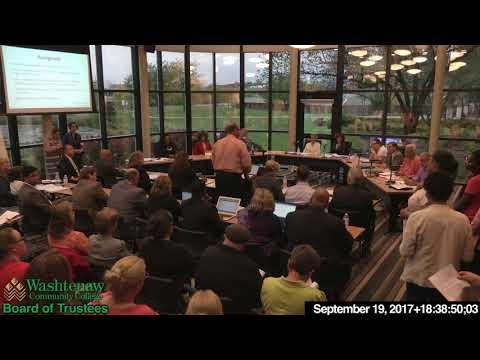 2017 09 19 WCC Board of Trustees regular meeting