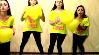 Funny kids dancing and play