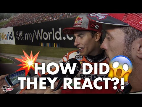 Dovizioso + Marquez react to their last lap battle! | 2019 #AustrianGP