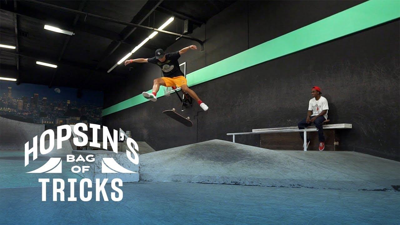 Hopsin Learns New Skate Tricks With Pro Skater Nick Tucker