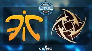 CS:GO - Fnatic vs. NiP [Dust2] - ESL One 2015 Katowice - Grand Final - Map 1(It's what we've all been waiting for. The Grand Finals between Fnatic and Ninjas in Pyjamas! The two teams go head to head on Dust 2! Watch more ESL One ..., 2015-03-15T17:24:58.000Z)