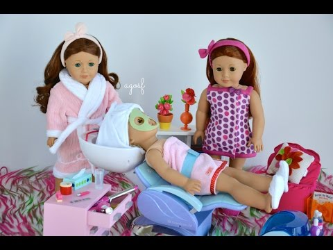 American Girl Doll Spa Day! HD WATCH IN HD!