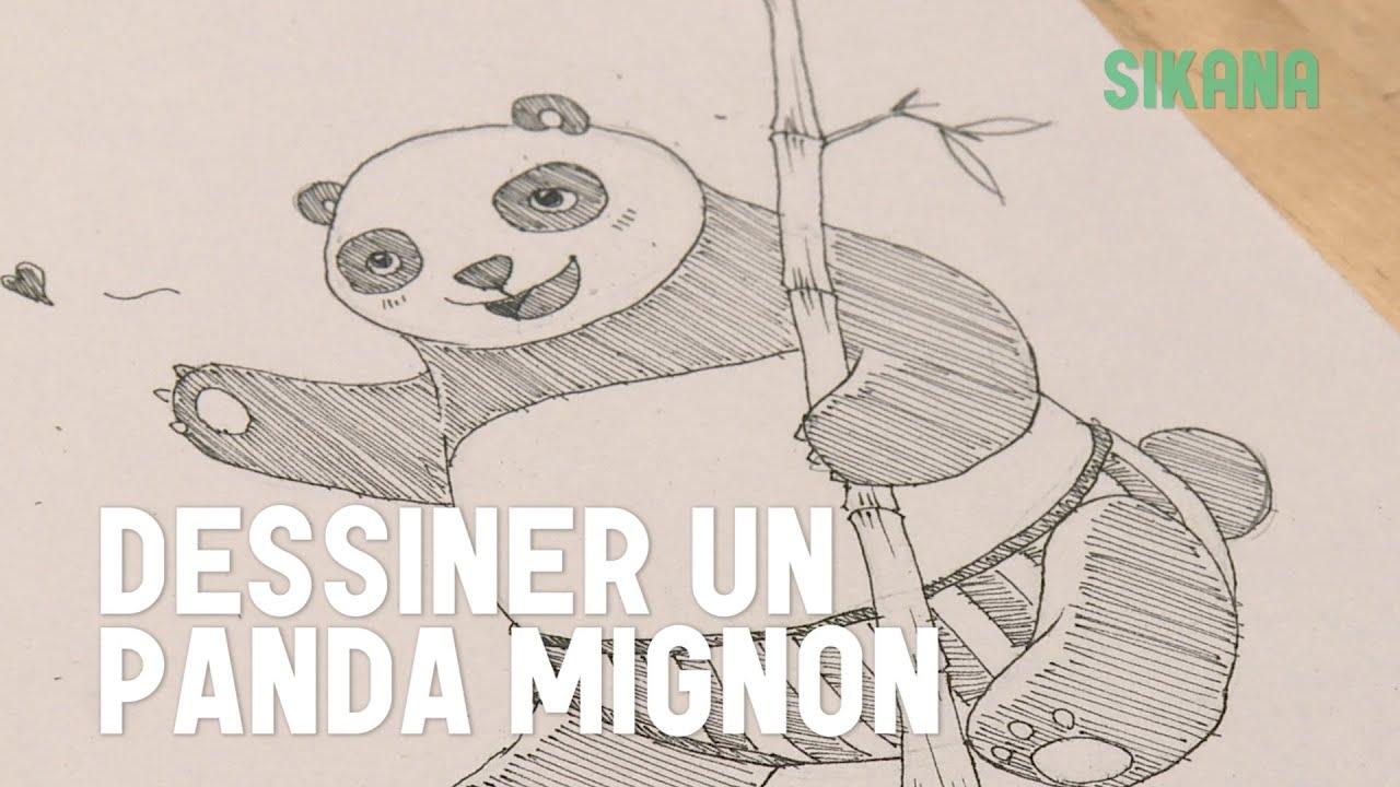 dessiner un panda mignon