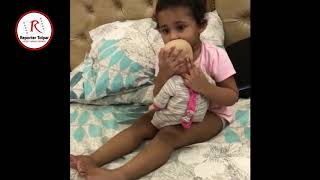 Shakib al hasan daughter alayna playing with her dol | exclusive video don't miss this video