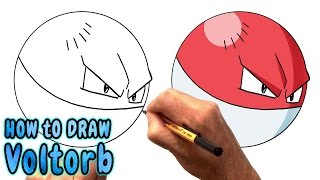 How to Draw Voltorb from Pokemon Go - Very Rare (NARRATED)