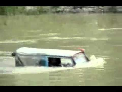 Jeep seems to go anywhere, even under water, amazing