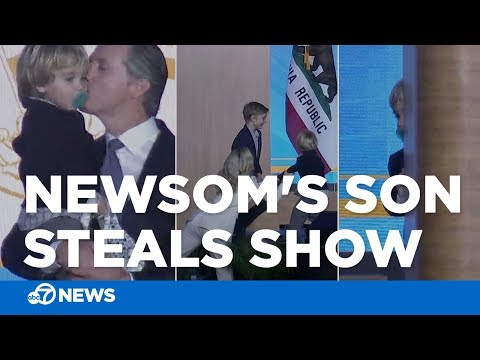 Dan Mitchinson - Newsom's Son Stole Show At Inauguration Speech