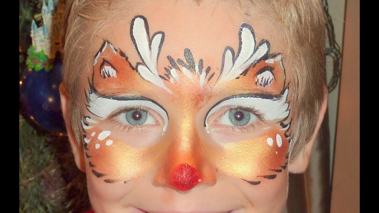 Uncategorized Rudolph Face Painting rudolph face painting tutorial youtube