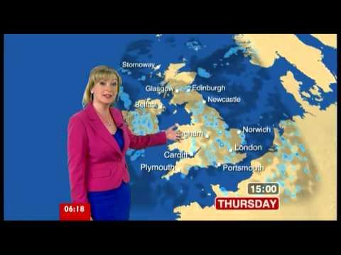 CAROL KIRKWOOD:-: BBC WEATHER - BBC BREAKFAST
