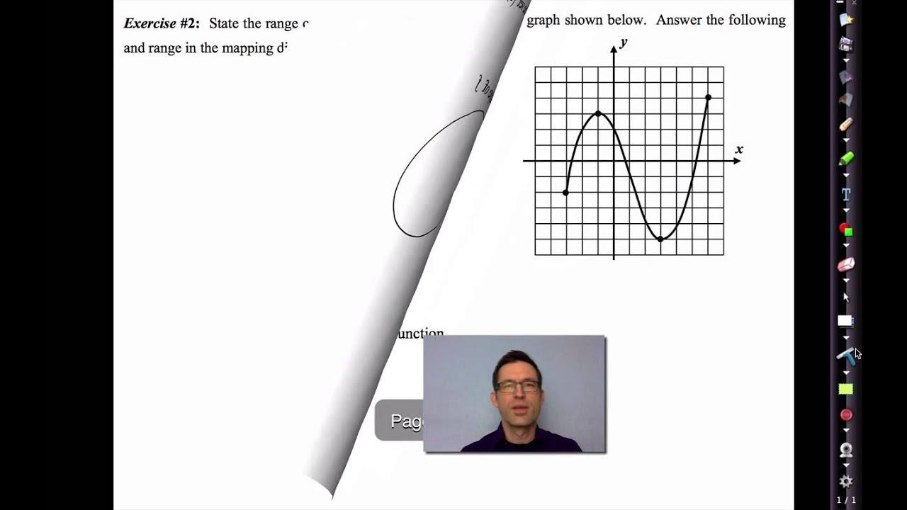 Common Core Algebra Ii Unit 2 Lesson 4 The Domain And Range Of A