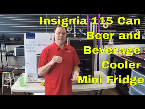 Insignia 115 Can Beer and Beverage Cooler Mini Fridge