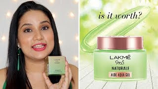 Lakme 9 to 5 Naturale Aloe Aqua Gel Honest Review in Hindi | 6 Ways to Use | Monica Sumant