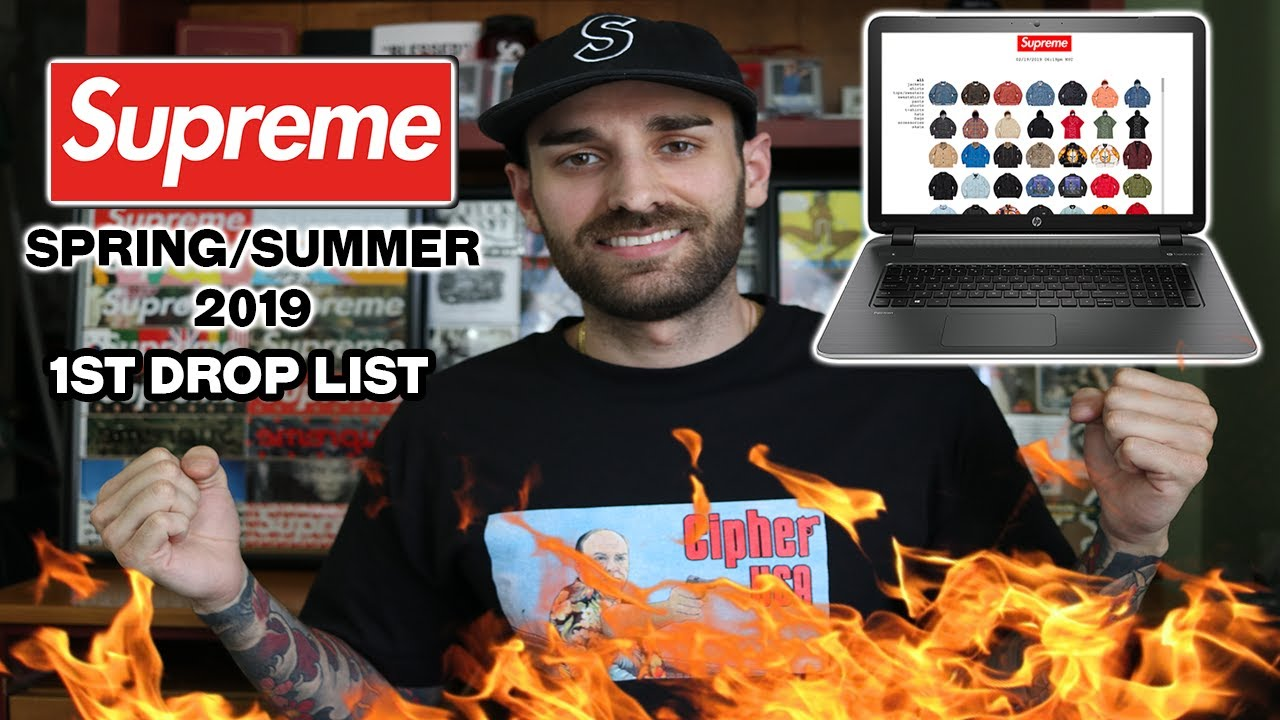 c7b002a7 SUPREME Spring/Summer 2019 FIRST DROP LIST |Preview| - YouTube