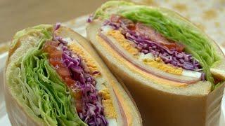 햄에그샌드위치 만들기/카페에서 파는것처럼 빵빵하게~~/…