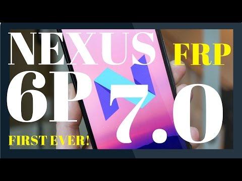 Nexus 6P FRP Bypass Nougat 7.0 7.1 7.1.1 October 5 2016 Security Patch - NBD90X NRD90U - Dirty-c0w