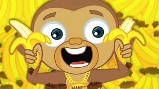 Monkey Song | MANGO - The Funny Baby Monkey | Nursery Rhymes Songs & Kids Songs by HooplaKidz