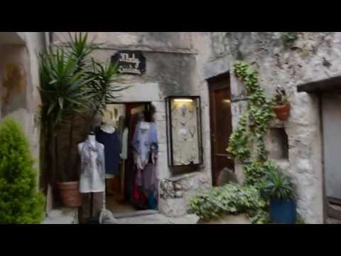 Eze, France - on the French Riviera walking tour up to Chateau Eza
