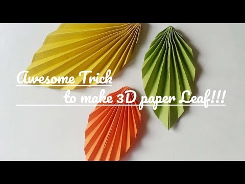 Paper leaf diy design craft making tutorial easy cutting from paper step by step