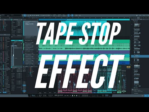 How to create the lil Wayne tape stop effect in Studio One
