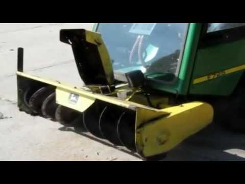 Snow Blower Sale >> 2003 John Deere F725 front mount snow thrower/mower for sale | sold at auction October 31, 2012 ...