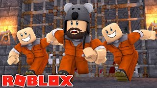 TRYING TO ESCAPE FROM PRISON IN ROBLOX!!!