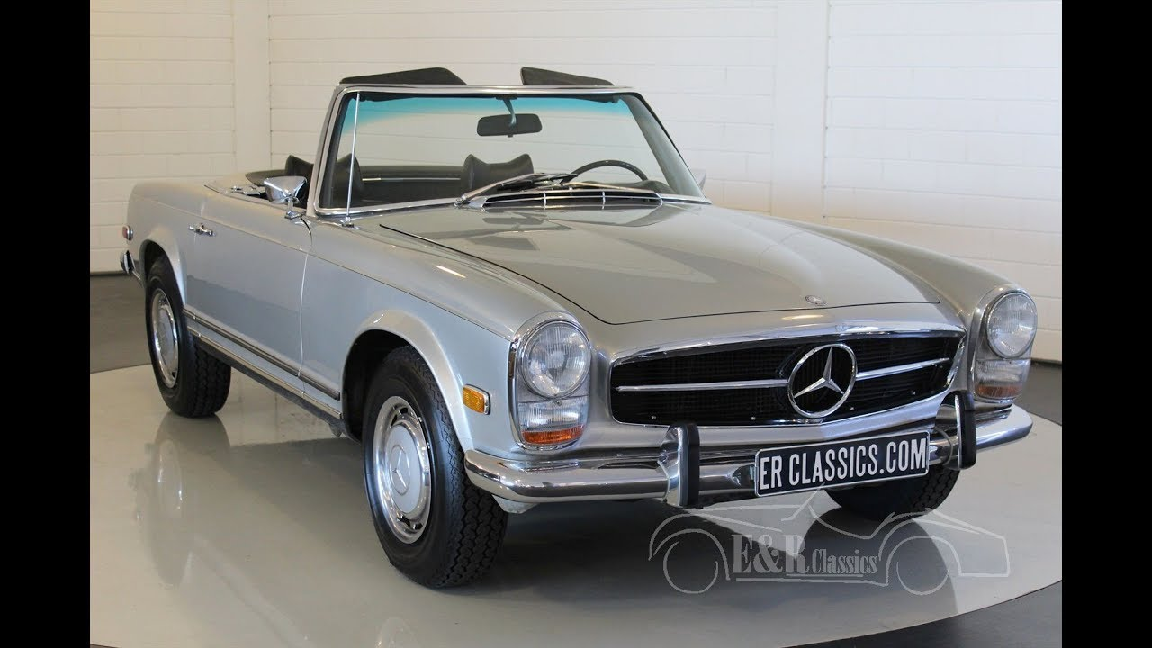mercedes benz 280 sl pagode 1969 video www erclassics. Black Bedroom Furniture Sets. Home Design Ideas