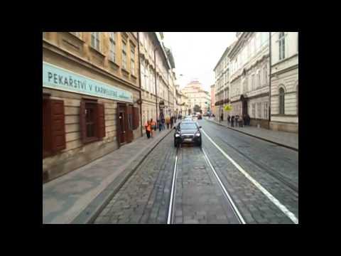 Prague Tramways Route 22 Nádraží Hostivař to Bílá Hora