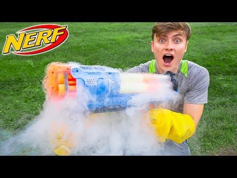 FROZEN NERF GUN MOD!! (LIQUID NITROGEN)
