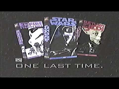 Star Wars Trilogy on VHS Commercial (1995)