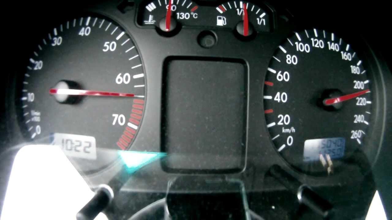 VW Golf IV 1.6 16V 77kW/105PS    0-210 km/h    0-100 km/h in 12,9 sek.