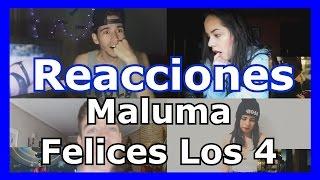 Reacciones: Maluma - Felices los 4 | Recopilación de videoreacciones