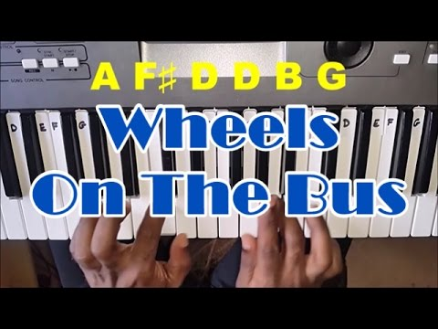 Keyboard For Beginners >> The Wheels On The Bus Easy Piano Tutorial - YouTube