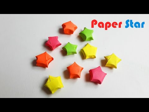 How to Make  Simple and Easy  paper stars - origami stars tutorial - DIY Paper Craft Ideas