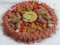 how to make beautiful  dry fruit tray at home | best gifting tray for wedding