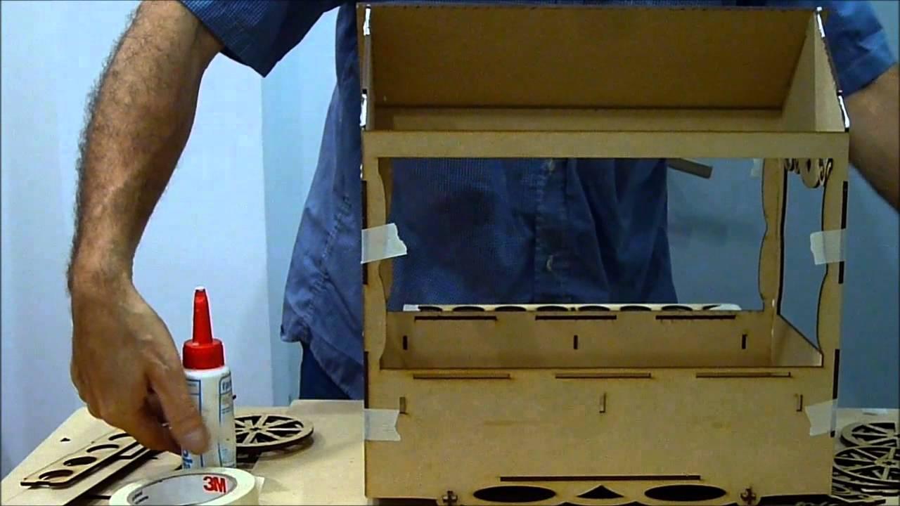 Carrito candy bar youtube for Como hacer un kiosco de madera