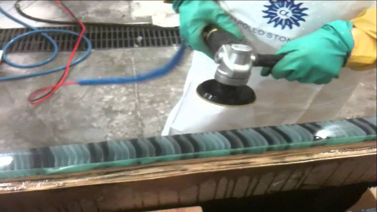 edge polishing of architectural glass surfaces by hand youtube - How To Polish Glass
